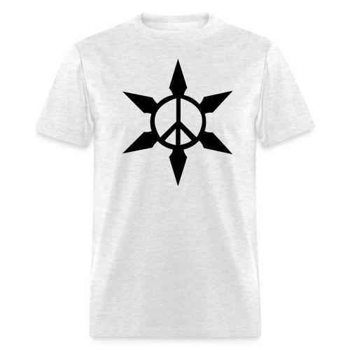 Peace Ninja Star - Men's T-Shirt