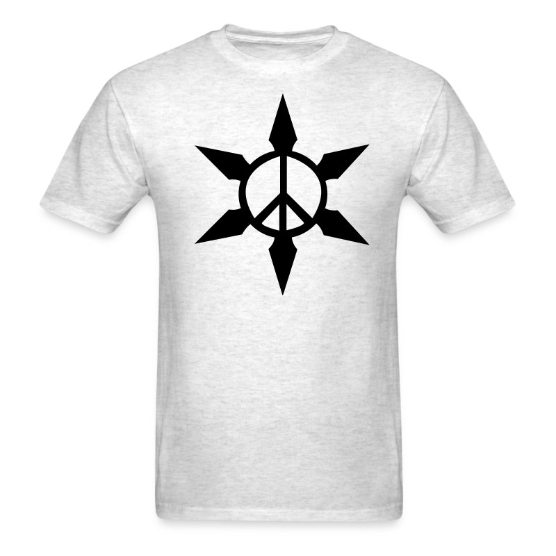 Peace Ninja Star - Men's T-Shirt
