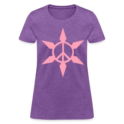 Peace Ninja Star - Women's T-Shirt