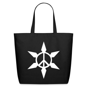 Peace Ninja Star - Eco-Friendly Cotton Tote