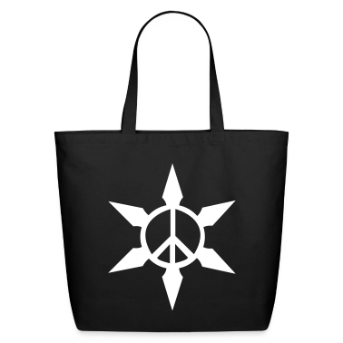 Black Peace Ninja Star Bags