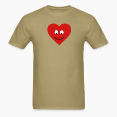 Khaki heart head T-Shirts