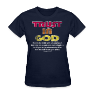 T-Shirts ~ Women's T-Shirt ~ Christian Shirt, Trust in God Cool Christian Shirt, Women's