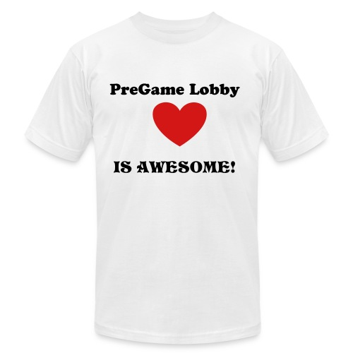 PreGame Lobby is AWESOME! - Men's Fine Jersey T-Shirt