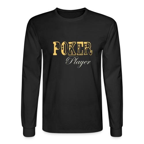 Poker Player  Mens Long Sleeve T Black - Men's Long Sleeve T-Shirt