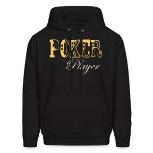 Poker Player  Mens Hoodie Black - Men's Hoodie