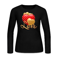 Long Sleeve Shirts ~ Women's Long Sleeve Jersey T-Shirt ~ Love