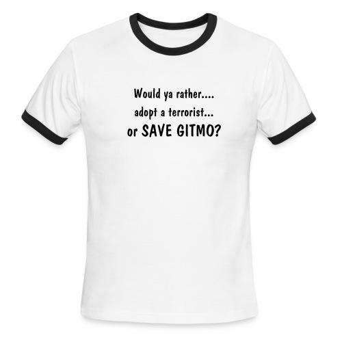 Save Gitmo! - Men's Ringer T-Shirt