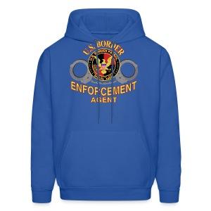 Border Enforcement Agent Blue Hoodie - Men's Hoodie