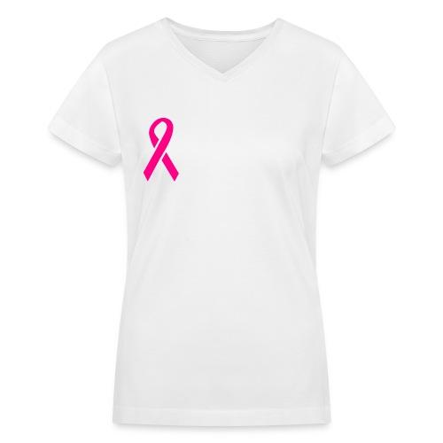 Breast Cancer V-neck Tee - Women's V-Neck T-Shirt