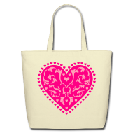 Bags & backpacks ~ Eco-Friendly Cotton Tote ~ Heart Design
