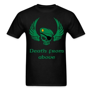 Men's T-Shirt - wing,tribal,skull,navy,military,marines,death,army,air force