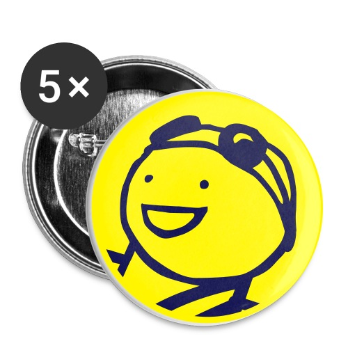 Charles the Raver large button  5pack - Large Buttons