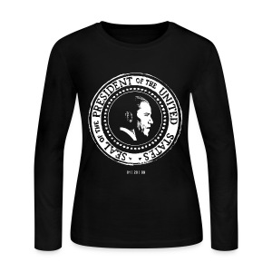 Women's Long Sleeve Jersey T-Shirt - seal,presidential,president,Obama,Nathan Hall Designs