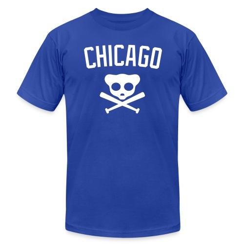 Chicago Cub Skull (royal blue) - Men's Fine Jersey T-Shirt