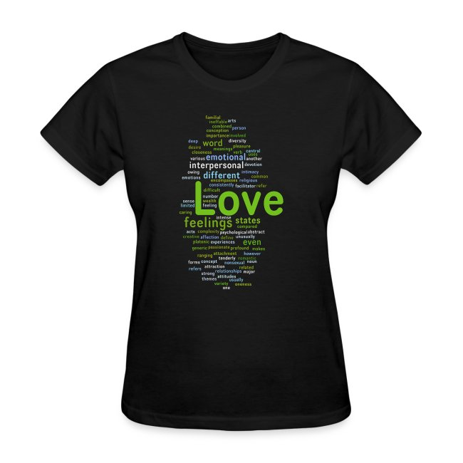 griggers love romance word mix t womens t shirt