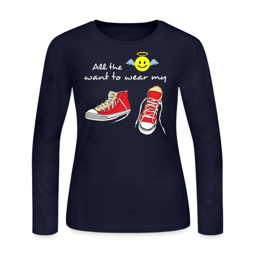 red shoes  - Women's Long Sleeve Jersey T-Shirt