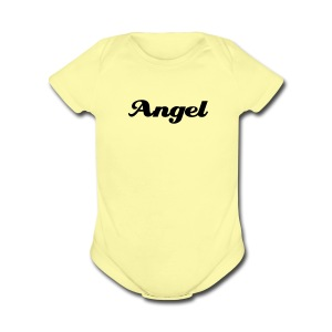 Angel One size (with Angel wings on back) - Short Sleeve Baby Bodysuit