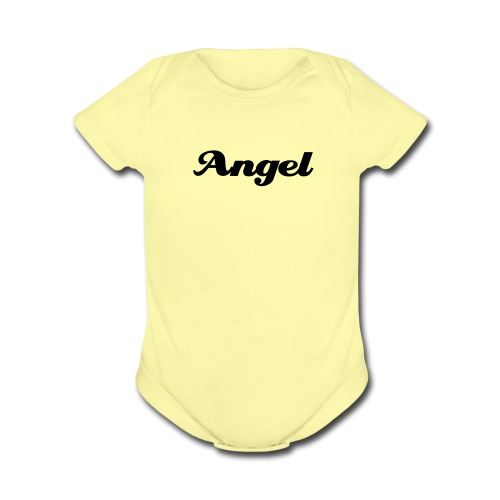 Angel One size (with Angel wings on back) - Organic Short Sleeve Baby Bodysuit