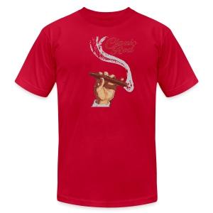 Classic Red Boston Men's American Apparel Tee - Men's Fine Jersey T-Shirt