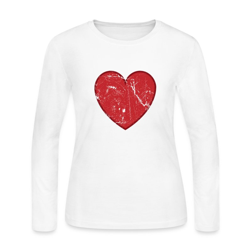 Cool Valentine Vintage Heart Long Sleeve Shirt Spreadshirt