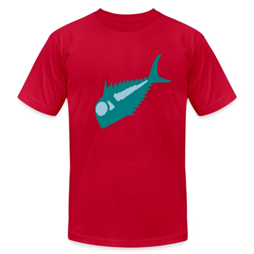 Scary Fish - Men's Fine Jersey T-Shirt