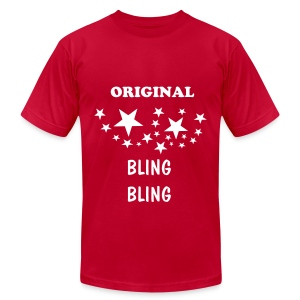 RED BLING - Men's Fine Jersey T-Shirt
