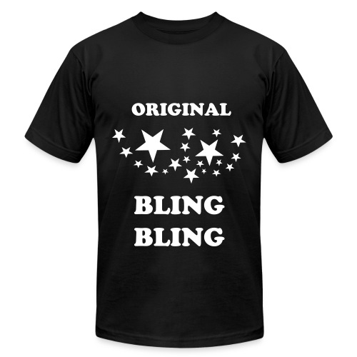 BLACK BLING - Men's Fine Jersey T-Shirt
