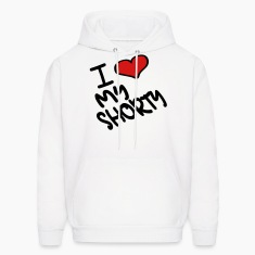 White I Heart My Shorty With Heart Hoodies