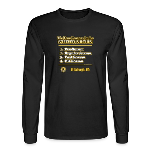 Steeler Nation 4 Seasons - Men's Long Sleeve T-Shirt
