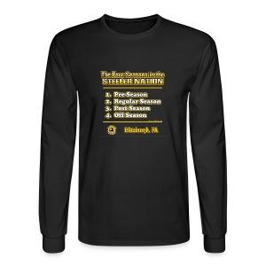 Steeler Nation 4 Seasons - Men's Long Sleeve T-Shirt