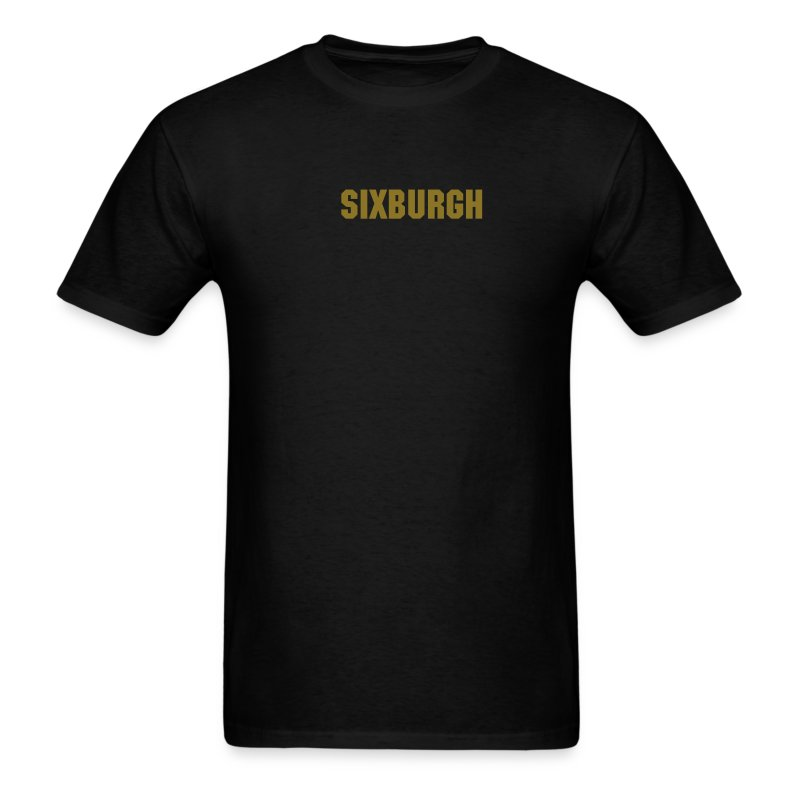 SIXBURGH Black T-shirt with Gold Text - Men's T-Shirt
