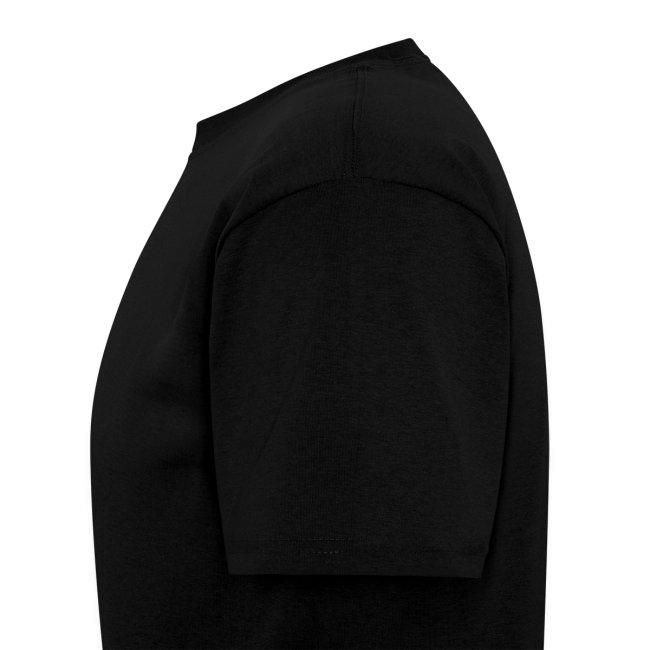 SIXBURGH Black T-shirt with Gold Text