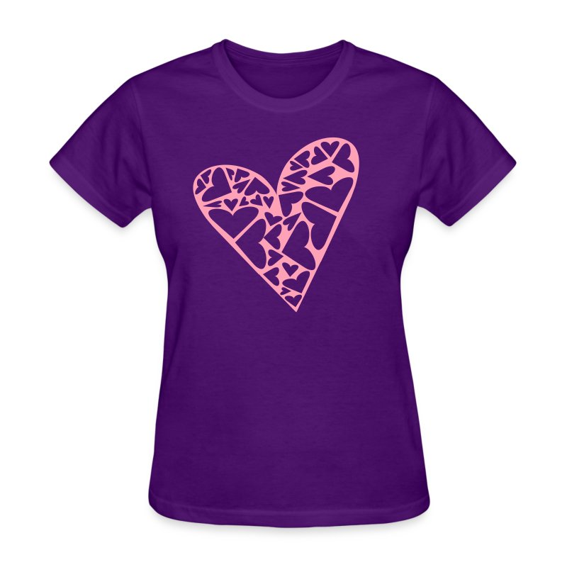 how to cut heart shape t shirt