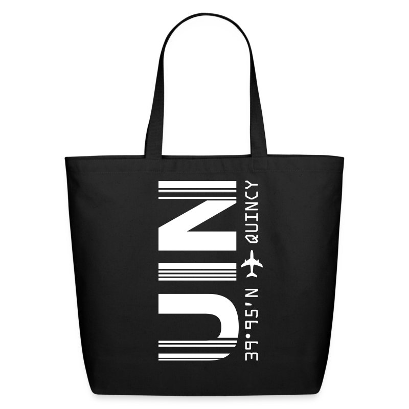 Quincy Airport Code Illinois UIN Tote Bag - Eco-Friendly Cotton Tote