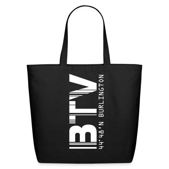 Burlington Airport Code Vermont BTV tote bag