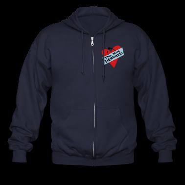 Ash  Heart Do Not Disturb Zippered Jackets