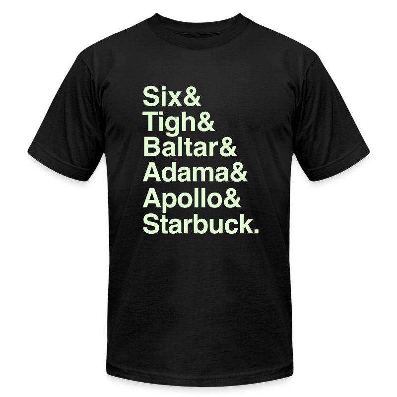 Battlestar Galactica v1 (Glow In The Dark) - Men's Fine Jersey T-Shirt