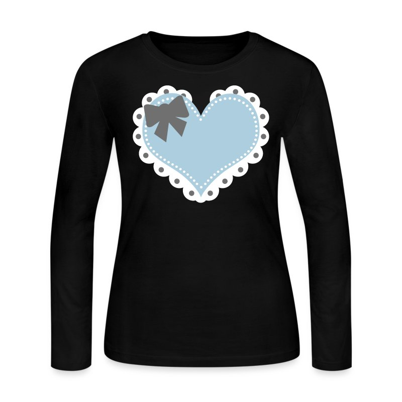 Blue Lolita Heart Jersey T - Women's Long Sleeve Jersey T-Shirt