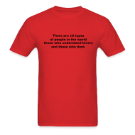 T-Shirts ~ Men's T-Shirt ~ There are 10 types of people in the world..