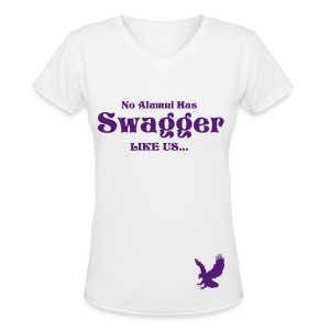 Swagger tee (with eagle) - Women's V-Neck T-Shirt