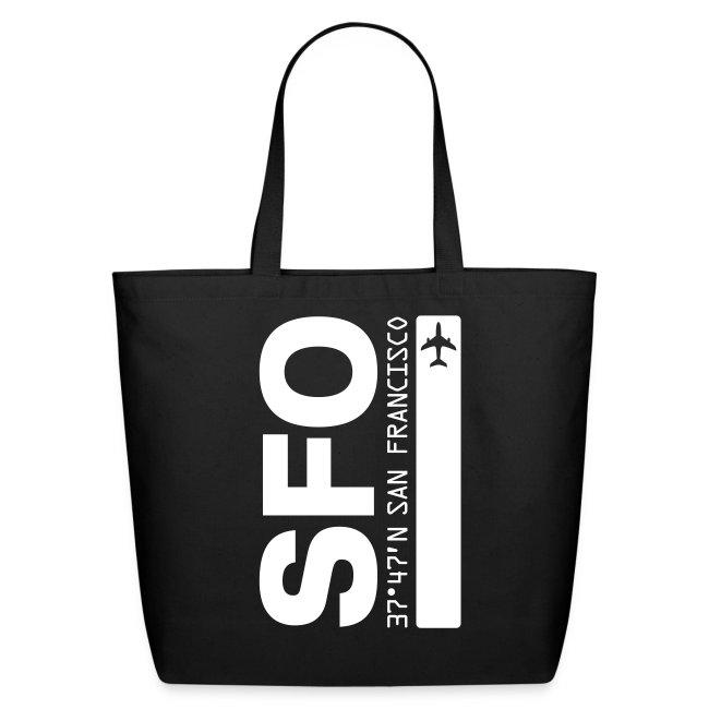 San Francisco Airport Code SFO  Tote Bag
