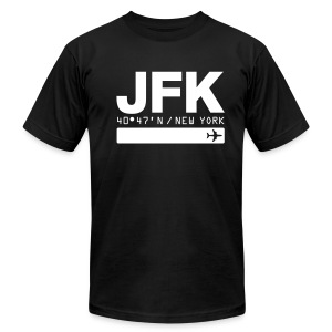 New York City Airport Code JFK Black Fitted T-shirt - Men's Fine Jersey T-Shirt