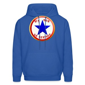 Blue Star Son-whitebackground - Men's Hoodie