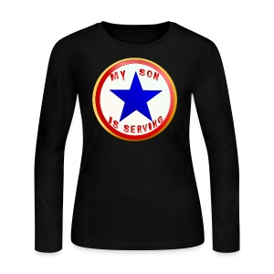 Blue Star Son-whitebackground - Women's Long Sleeve Jersey T-Shirt