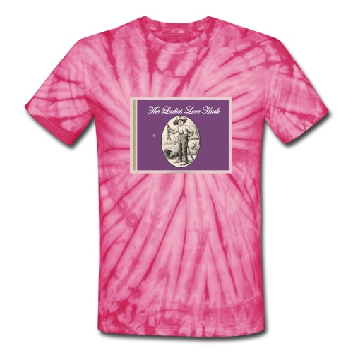 Ladies Love Huck Mark Twain Long Sleeve - Unisex Tie Dye T-Shirt