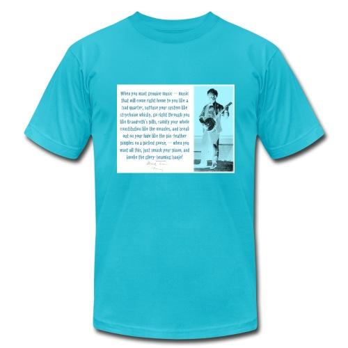 Mark Twain Banjo Quote T-Shirt - Men's Fine Jersey T-Shirt