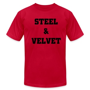 MALIK: Steel and Velvet Shirt - Men's T-Shirt by American Apparel