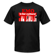 T-Shirts ~ Men's T-Shirt by American Apparel ~ Emo is for Cutters t-shirt