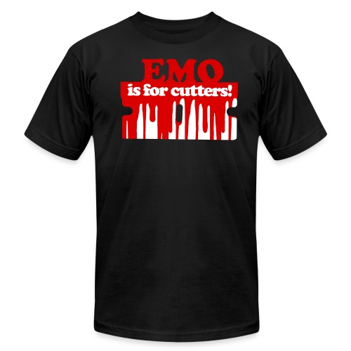 Emo is for Cutters t-shirt - Men's Fine Jersey T-Shirt